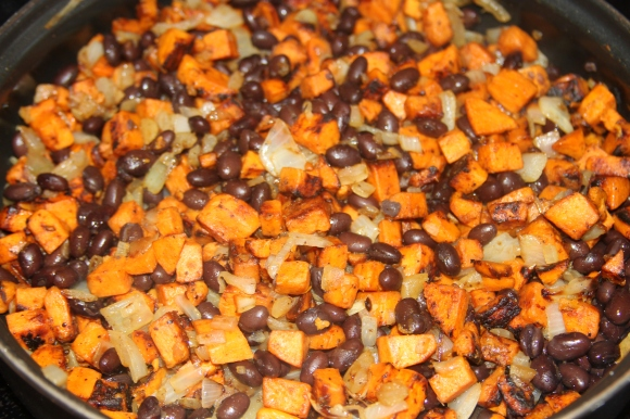 Black Beans Sweet Potato Onion