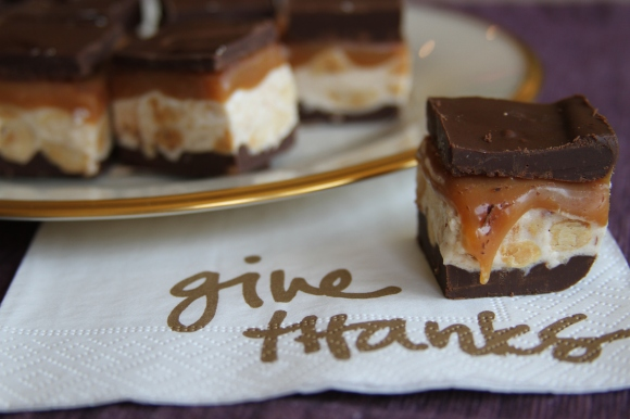 snicker bar give thanks