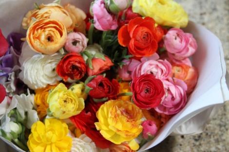 Farmers market blooms