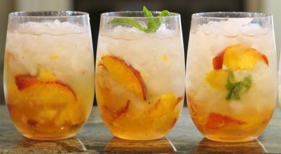 Peach Ginger Cocktail