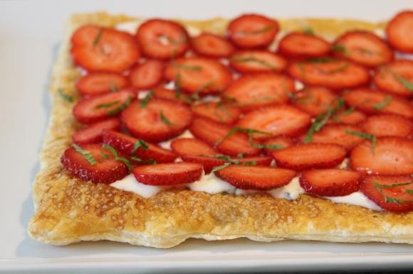Strawberry Mint Tart