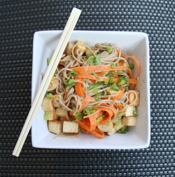spicy soba tofu with peanut sauce