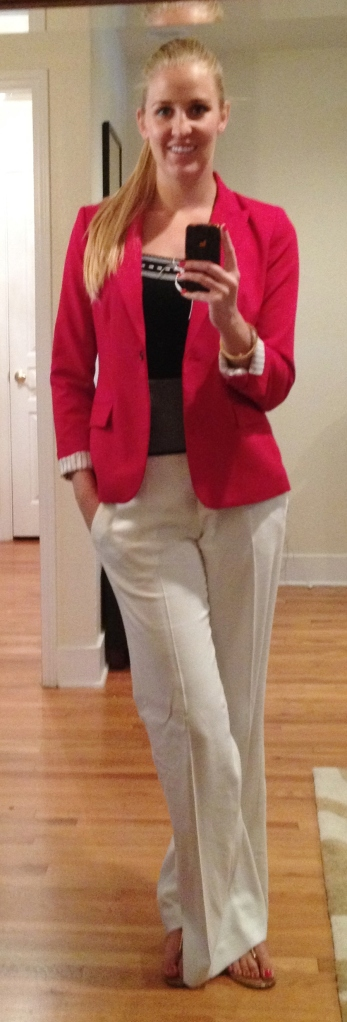 Red Blazer White Pants