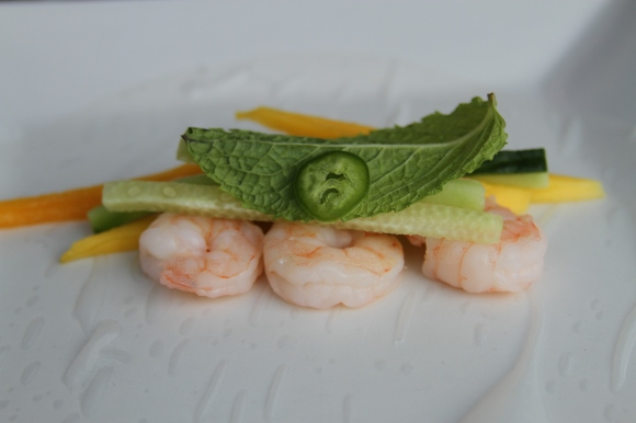 Mint Jalapeno Shrimp Spring Rolls