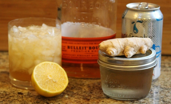 Ginger Bourbon Fizz Ingredients