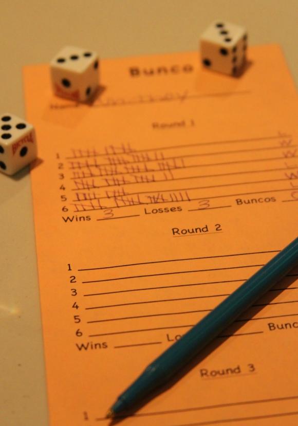 Bunco Score Card