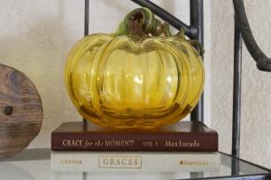 Glass Pumpkin Decor