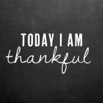 today I'm thankful