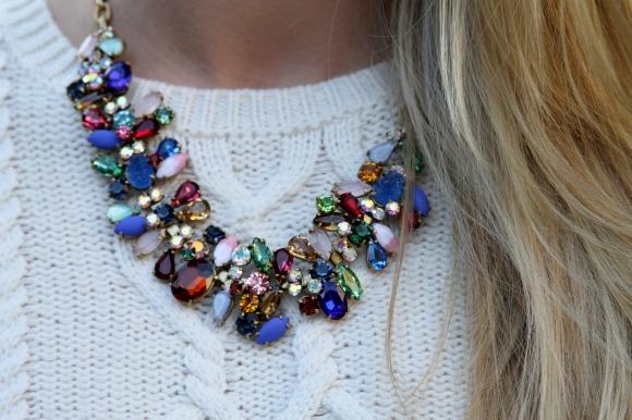 JCrew Colorful Statement Necklace