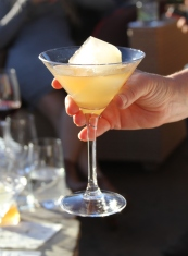 Lemon Ice Cube Martini