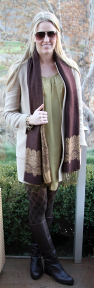 Zara Coat and Pashmina
