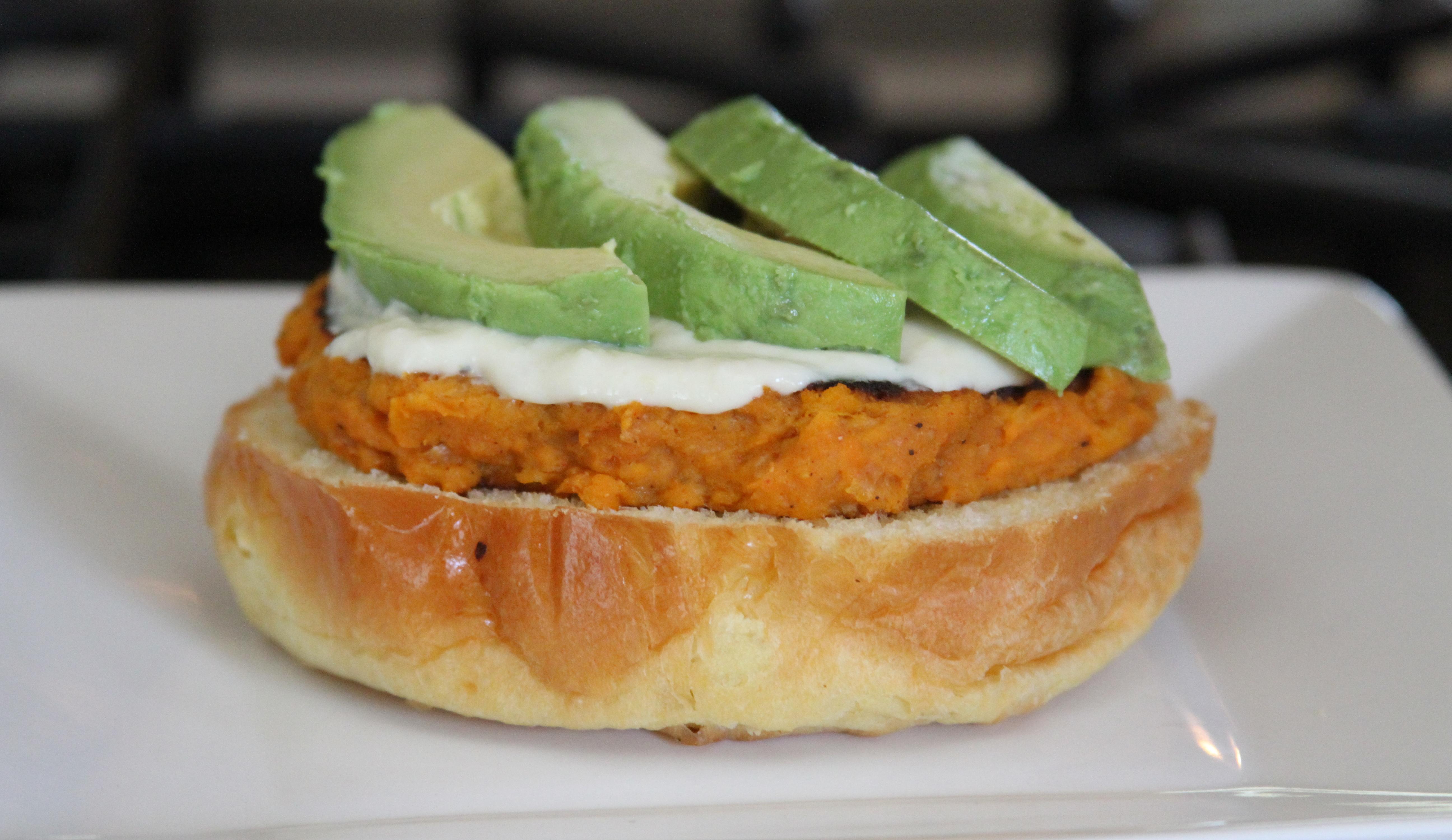 Sweet Potato Patty with Avocado
